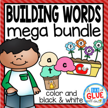 Word Building Activity Mega Bundle - CVC, CVCC, CVCE, and CCVC Words
