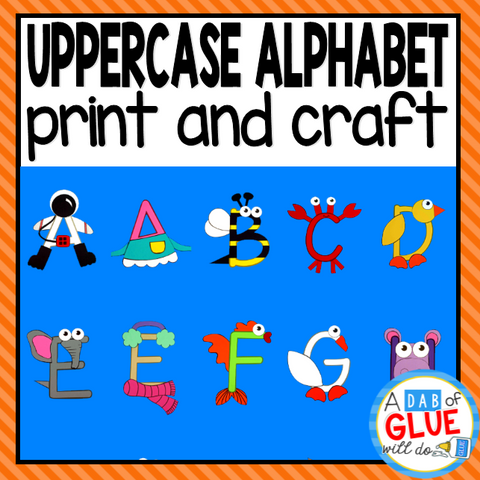 A-Z Uppercase Letter Crafts and Worksheet Bundle