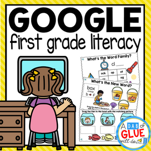 Know It, Show It LITERACY Google Slide FIRST GRADE Digital Bundle