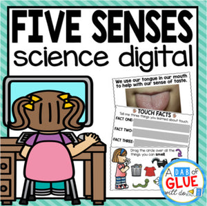5 Senses Digital Science for Kindergarten Google Classroom (Distance Learning)