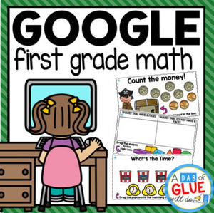 Know It, Show It MATH Google Slides FIRST GRADE Digital Bundle