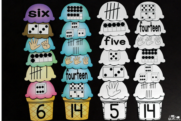 Make learning fun with these themed Initial Sound and Number Match-Ups. Your elementary age students will love this fun ice cream themed literacy center and math center! Perfect for literacy stations, math stations, or small review groups all year long. Use in your Preschool, Kindergarten, and First Grade classrooms. Black and white options availab