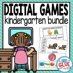 Kindergarten Digital Learning Bundle (Kindergarten Distance Learning)