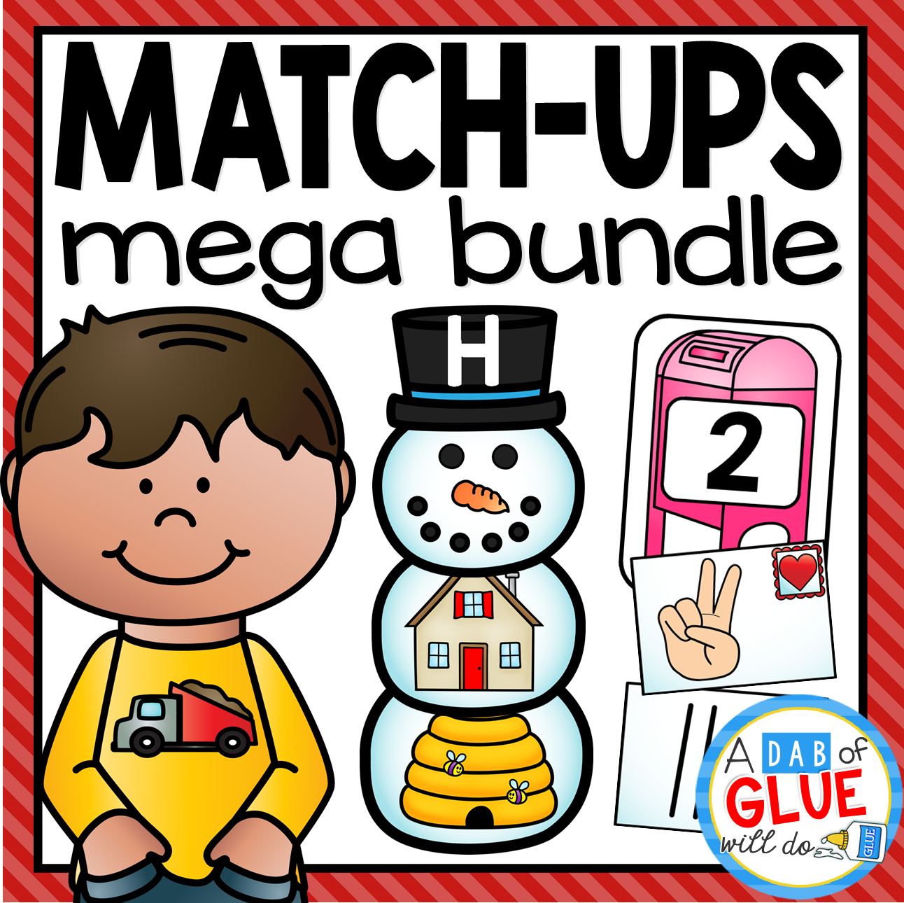 Add this match-ups mega bundle to supplement your early literacy and math needs with hands-on activities for early learners.