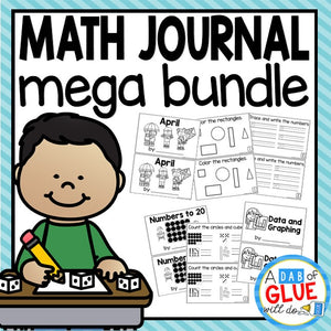 Daily Math Review Journal {GROWING} Bundle for Kindergarten