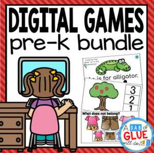 Pre-K E-learning Digital Resource {Growing} Bundle