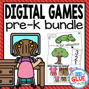 E-Learning Pre-K Digital Learning Bundle (PreK Distance Learning)