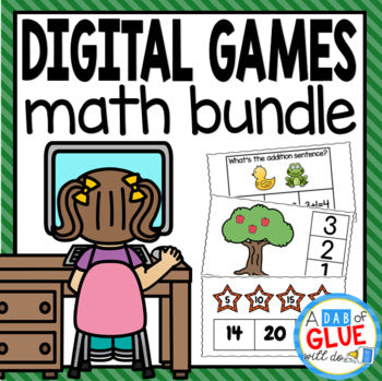 Math Digital Activities Bundle for Math Distance Learning