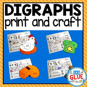 Digraph Crafts Bundle and Digraph Activities