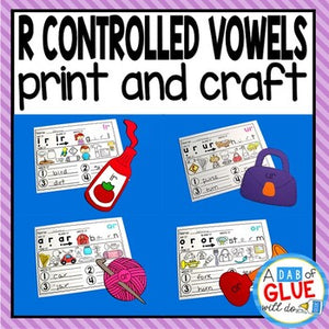 R Controlled Vowel Worksheets and Crafts