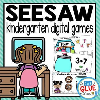 SeeSaw Kindergarten Digital Bundle for SeeSaw Distance Learning