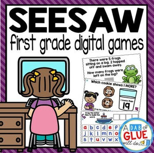 SeeSaw First Grade Digital {Growing} Bundle for SeeSaw Distance Learning