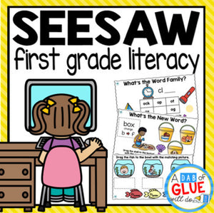LITERACY SeeSaw Activities FIRST GRADE Digital Bundle