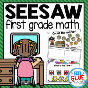 SeeSaw Math Activities FIRST GRADE Digital Bundle
