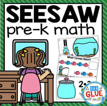 SeeSaw MATH PREK Distance Learning Digital Bundle