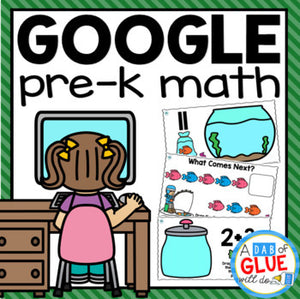 Know It, Show It MATH Google Slides PREK Distance Learning Bundle