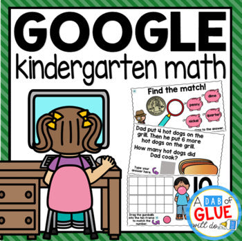 MATH Google Classroom Distance Learning for KINDERGARTEN {Growing} Bundle