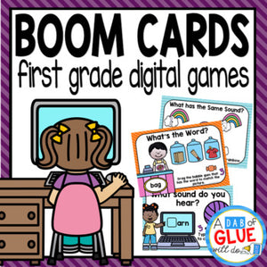 First Grade Boom Cards Distance Learning Bundle