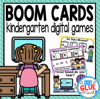 Kindergarten Grade Boom Cards Distance Learning Bundle