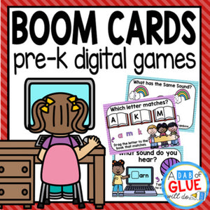 Pre-K Boom Cards Distance Learning Bundle