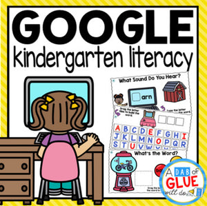 Know It, Show It LITERACY Google Slide KINDERGARTEN Digital {Growing} Bundle