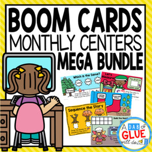 Monthly & Holiday Boom Cards Mega Bundle for K, 1st and PreK {Growing}