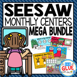 Monthly & Holiday Seesaw {Growing} Mega Bundle for Kinder, 1st and PreK