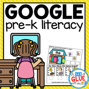 Know It, Show It LITERACY Google Slides PREK Distance Learning Bundle