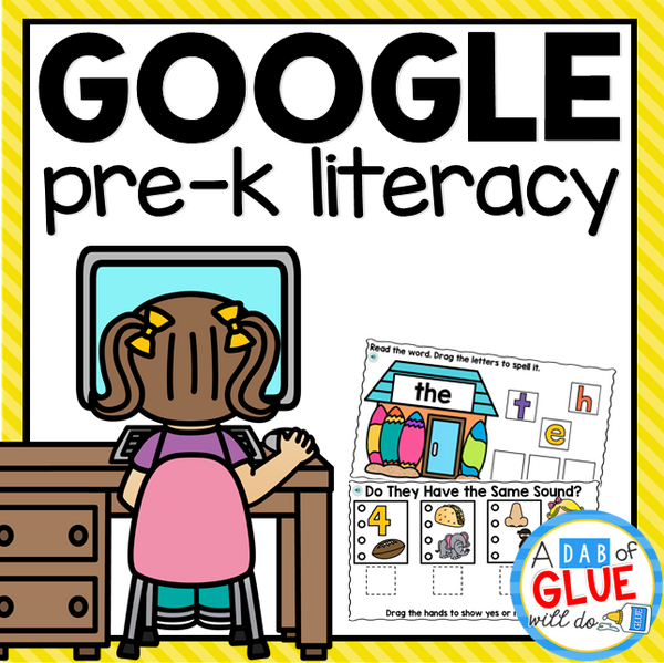Know It, Show It LITERACY Google Slides PREK Distance Learning {Growing} Bundle