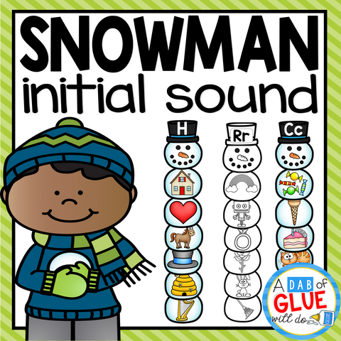 Snowman Initial Sound Match-Up