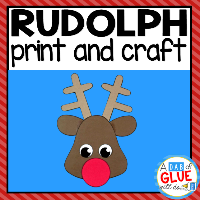 Rudolph the Reindeer Paper Craft Activity and Creative Writing