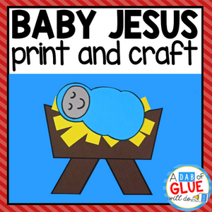 Baby Jesus Paper Craft Activity and Creative Writing