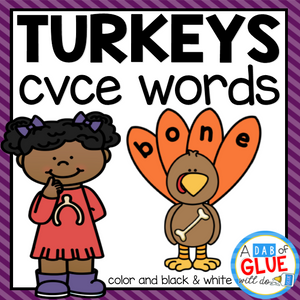 Turkey CVCE Word Building Activity