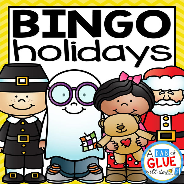 Play Bingo with your elementary age students through the holidays with these fun holiday themed games! Perfect for large groups in your classroom or small review groups. Add these to your lesson plans or class party with 30 unique Halloween, Thanksgiving, Christmas, Valentine's Day, St. Patrick's Day and Easter boards! Teaching cards are also inclu