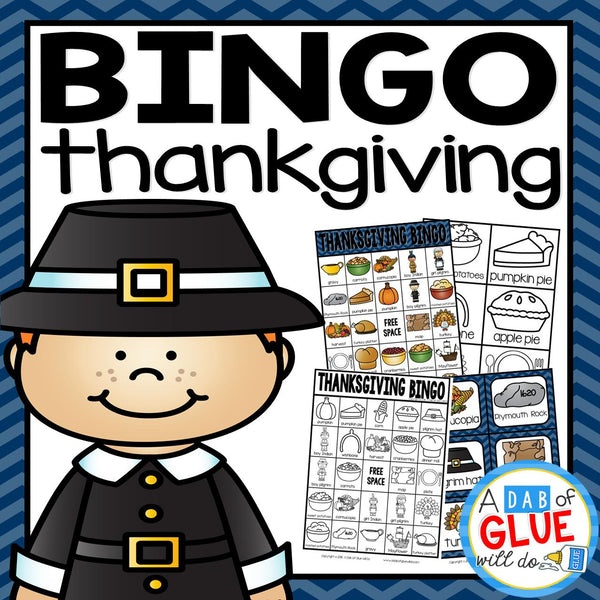 Play Bingo with your elementary age students for a fun Thanksgiving themed game! Perfect for large groups in your classroom or small review groups. Add this to your Thanksgiving party with 30 unique Thanksgiving Bingo boards with your students! Teaching cards are also included in this fun game for young children! Black and white options available t