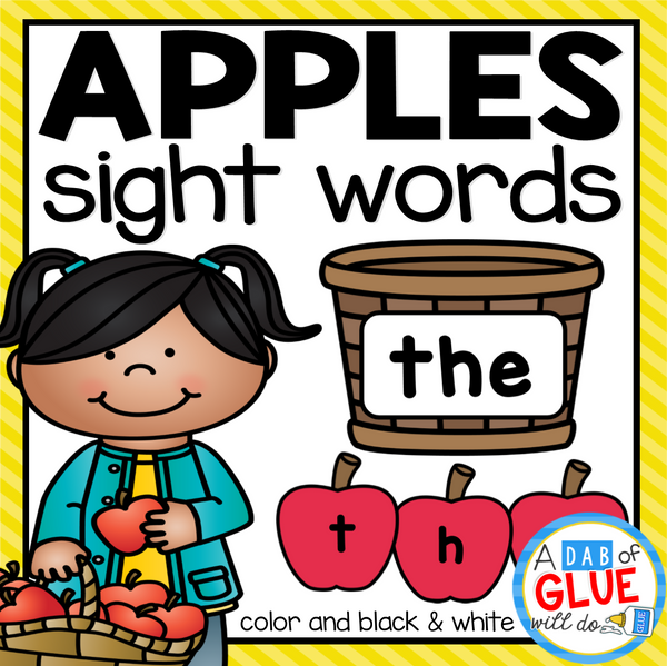 Apple Editable Sight Word Activity