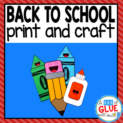 Back to School Paper Craft Activity and Creative Writing