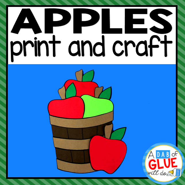 Apple Bucket Paper Craft Activity and Creative Writing