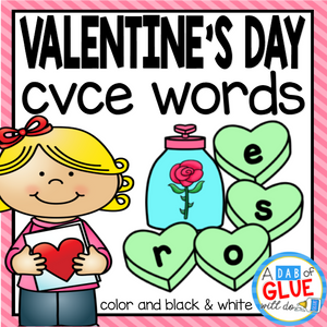 Valentine's Day CVCE Word Building Activity