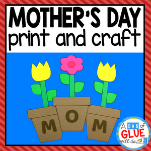 Mother's Day Paper Craft Activity and Creative Writing