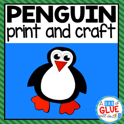 Penguin Paper Craft Activity and Creative Writing