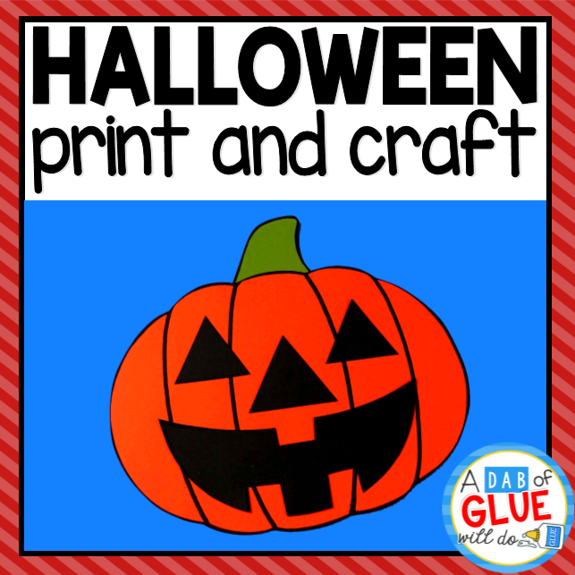 Pumpkin Halloween Paper Craft Activity and Creative Writing