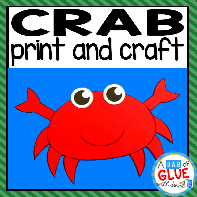 Crab Paper Craft Activity and Creative Writing