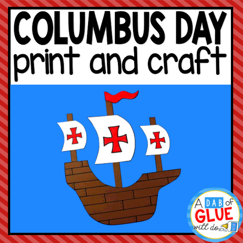 Columbus Day Paper Craft Activity and Creative Writing