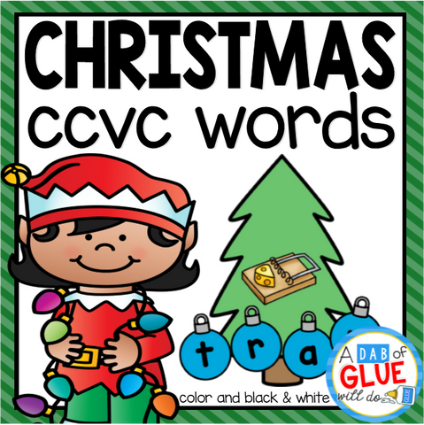 Christmas CCVC Word Building Activity
