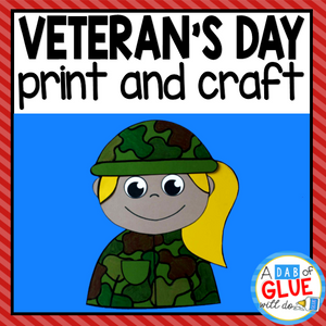 Veteran's Day Paper Craft Activity and Creative Writing