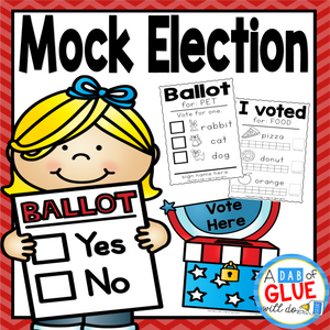 The Presidential Election will be here before we know it. Since this is an event that only happens every four years, it is so important to introduce the concept to even the littlest of learners. This can easily be done by having a mock election in the classroom. My students always loved when we did this on election day and it helps teach the import
