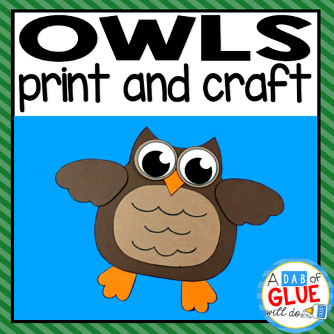 Owl Paper Craft Activity and Creative Writing