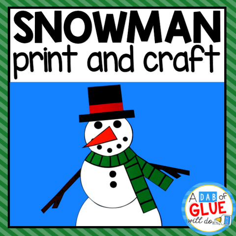 Snowman Paper Craft Activity and Creative Writing