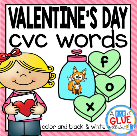 Valentine's Day CVC Word Building Activity